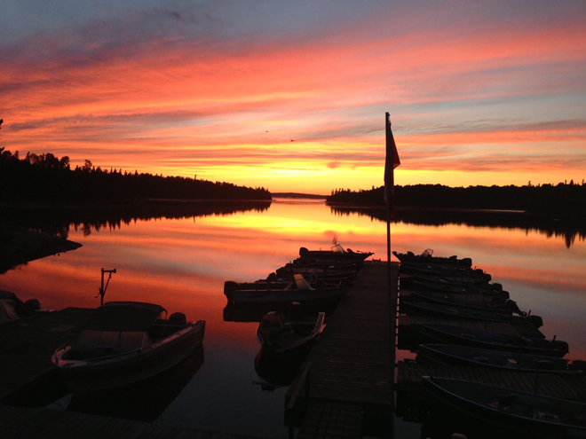 August sunset at Peffley's Canadian Wilderness Camp
