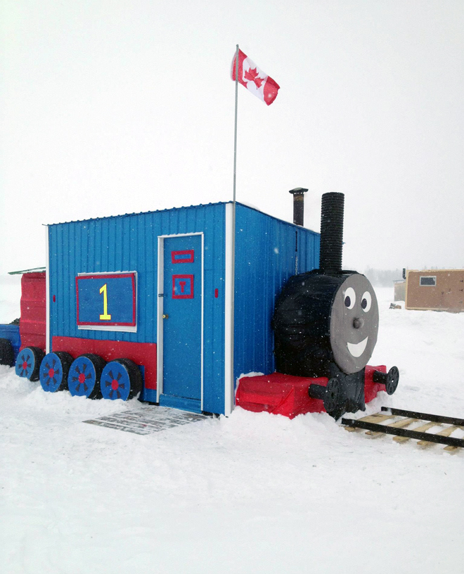 "Winner of the ""Pimp your Ice Shack"" contest at the Dryden Winter Carnival"