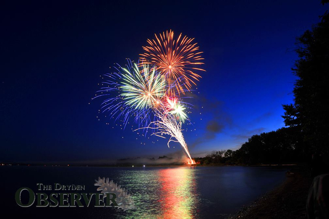 Chris Marchand of the Dryden Observer captures the fireworks in Dryden on Canada Day