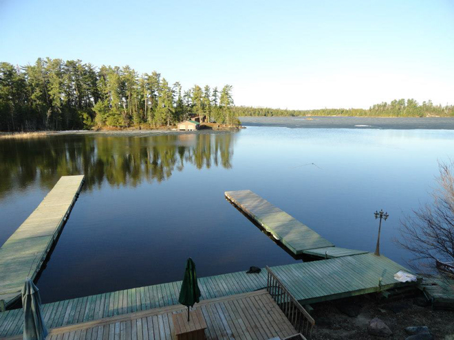 Indianhead Lodge has some open water near their docks on May 9, 2013