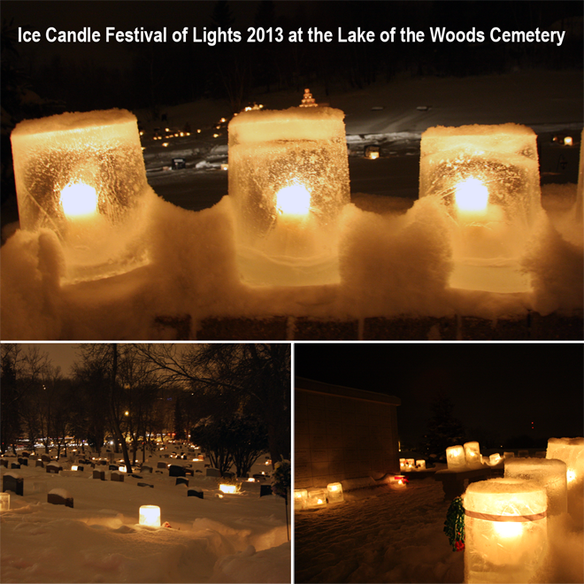 Ice Candle Festival at the Lake of the Woods Cemetary