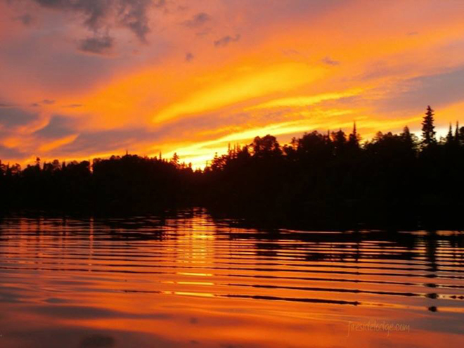 Another gorgeous sunset from Sioux Lookout at Fireside Lodge