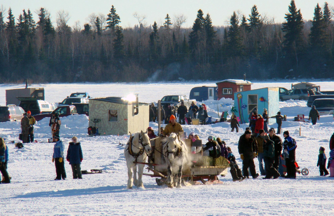 Go for a sleigh ride at the Dryden Winter Festival!