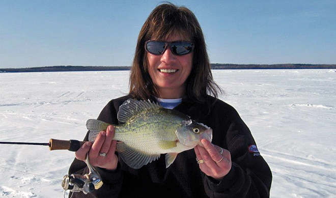 Crappie caught at Harris Hill Resort which is between Morson and Rainy River
