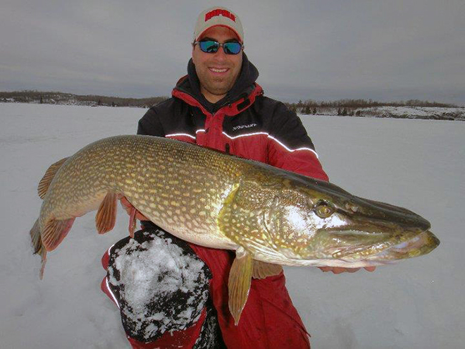 Jay-Samsal was out fishing with Jeff Gustafson where he caught this huge pike.