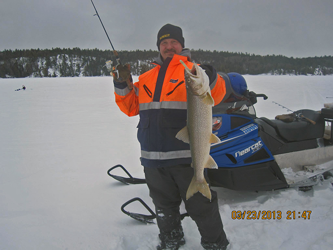 Lake trout caught by Paul at Muskie Bay Resort in March