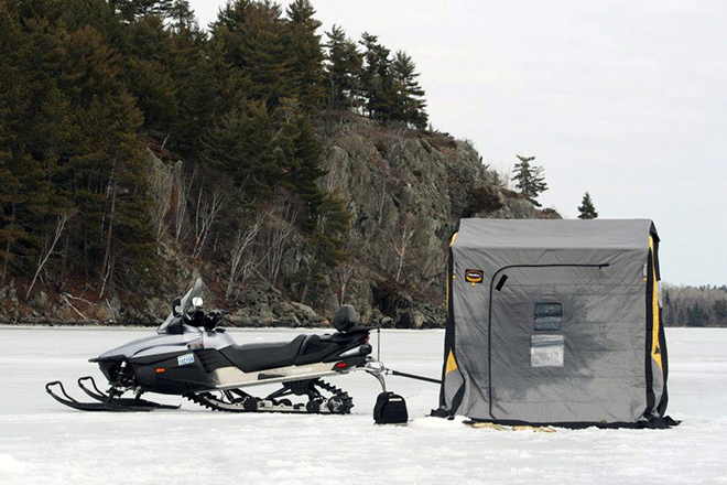 Beautiful scenery is just another plus of ice fishing on Lake of the Woods