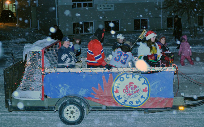 Hockey Night in Sioux Lookout float from 2011