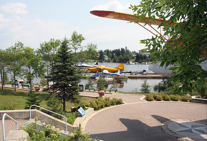 Venture down to Norsemen Park in Red Lake and watch the float planes take off on Howey Bay