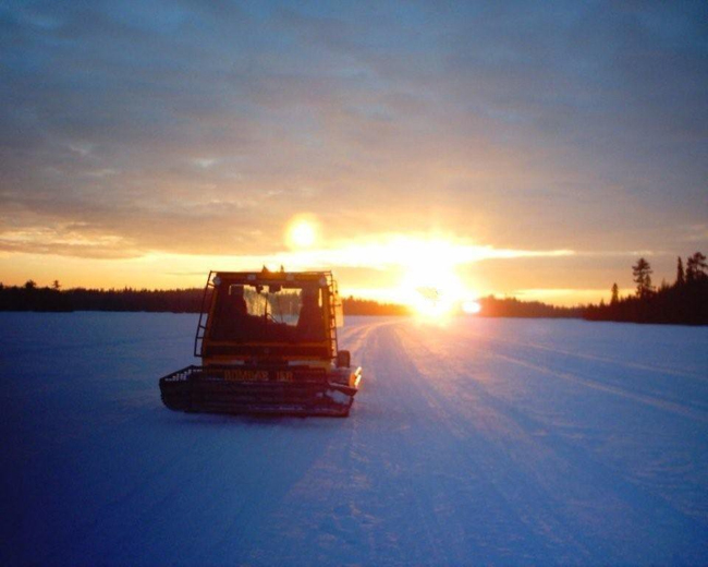 Sunset Trail Rider's Groomer hard at work