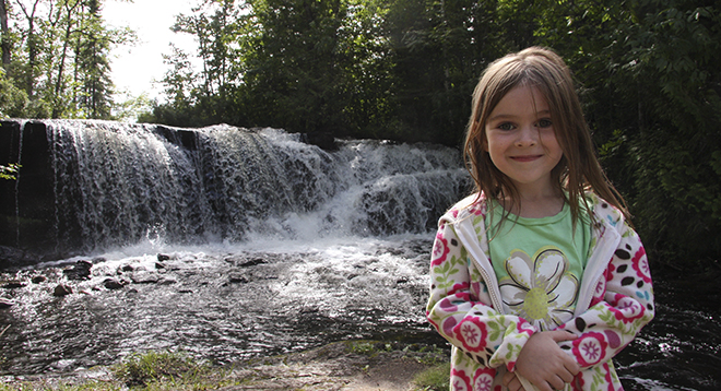 Raleigh Falls in Ignace Ontario