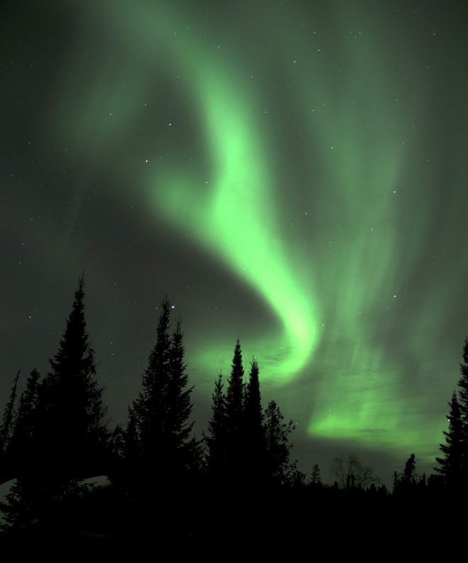 Northern lights at Fireside Lodge