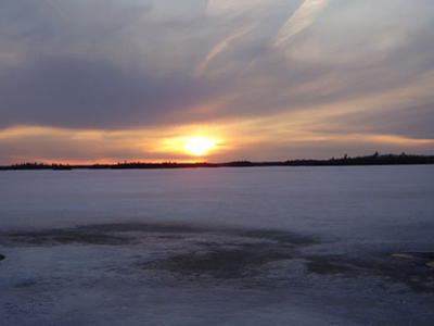 Enjoy a winter sunset during a weekend getaway