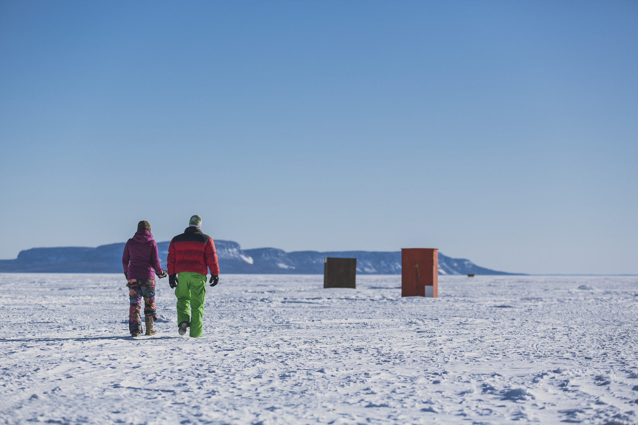 Get hooked on ice fishing on lake superior s north shore for Lake superior ice fishing