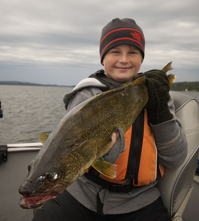Cold water can mean big walleye