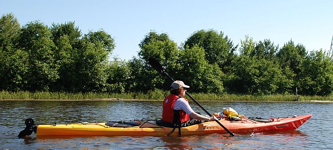 kayaking river