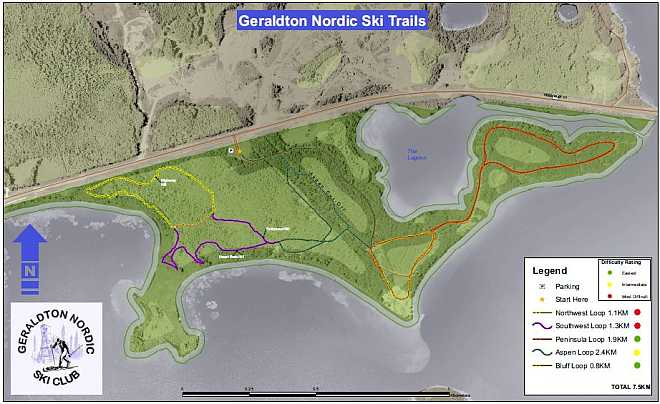 GeraldtonNordicSki map