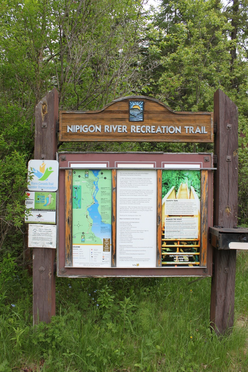 nipigon river trail sign