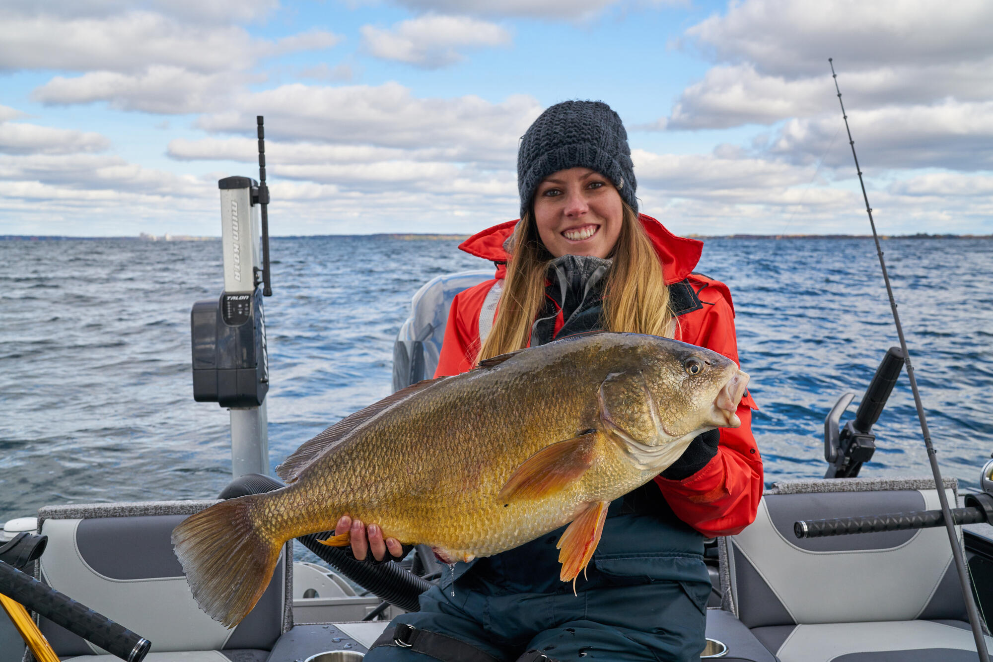 Delighted For Sheepshead On Bay Of Quinte Southern Ontario