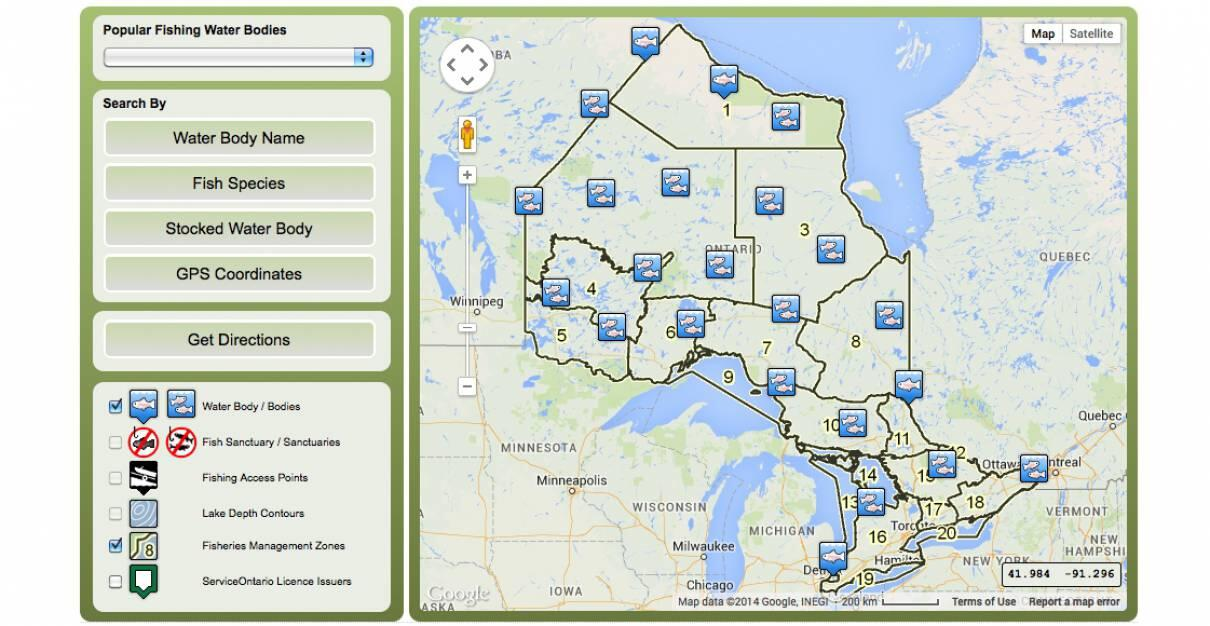 Online Map to Find Out Which Fish Species Are in Ontario
