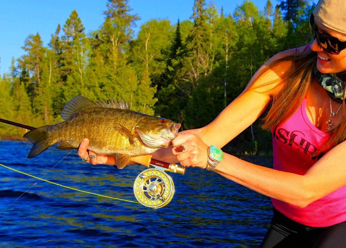 The fun never ends when fly fishing for smallmouth bass for Fly fishing for smallmouth bass