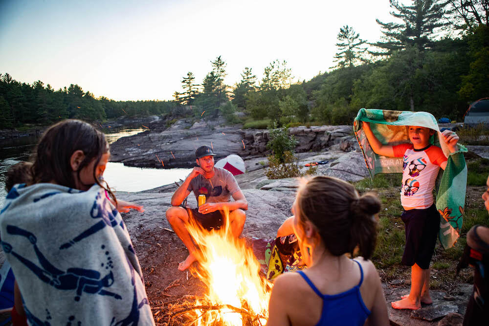 Backcountry camping along the French River is perfect for adventurers looking for a multi-day trip. Discover the very best campsites when you go with a guide.