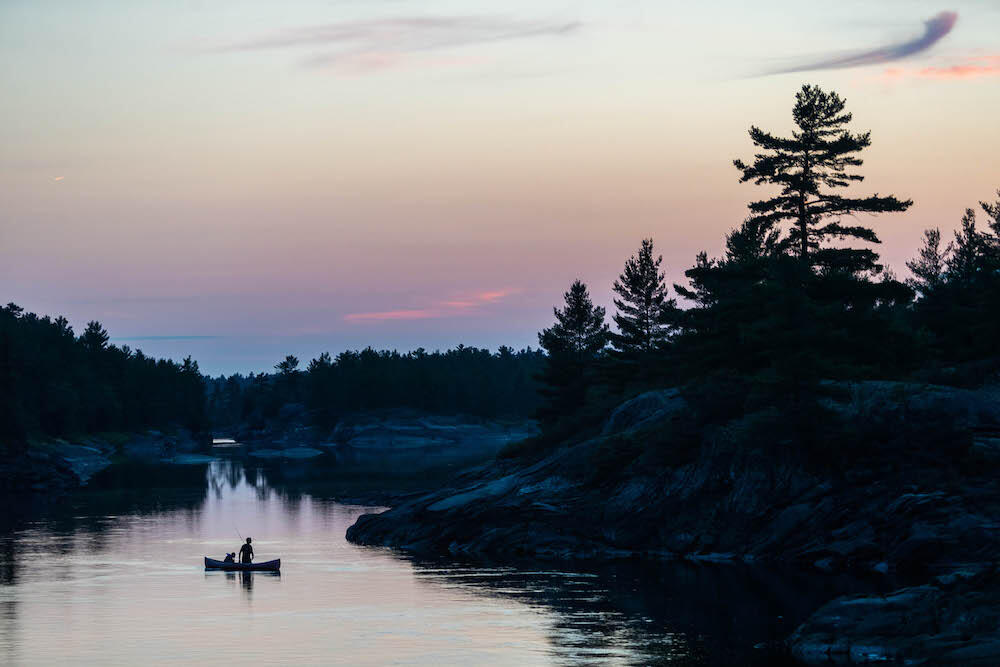 Fishing heaven awaits on the French River. Walleye, smallmouth bass, and northern pike are just a few of the fish species that are found in the river. Photo: Colin Field
