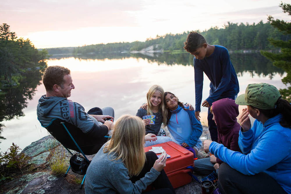Practice leave-no-trace camping and camp only on designated campsites while canoeing the French River. Photo: Colin Field