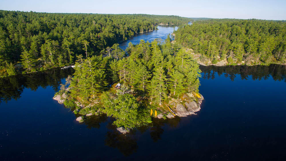 From the rugged hills and thick forests of the Canadian Shield to the channels, bays, and lakes that interconnect along this waterway, French River Provincial Park is a maze of quiet hideaways and fast-moving water.Photo: Colin Field