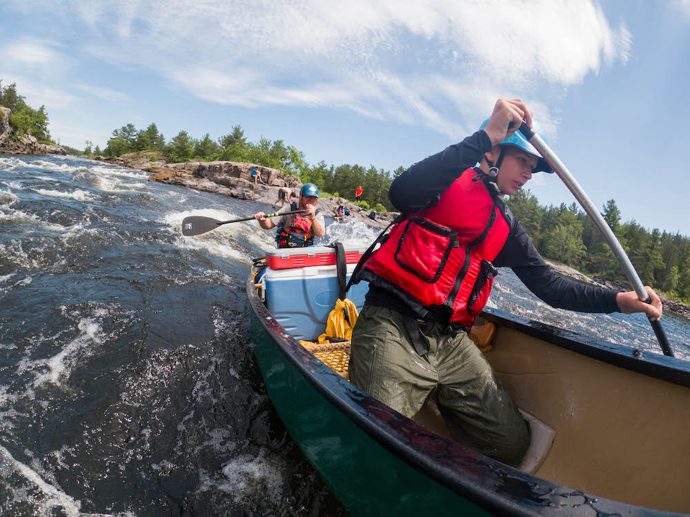 The French River travels 110km through interconnected lakes, gorges and rapids from Lake Nipissing to Georgian Bay. Photo: Colin Field