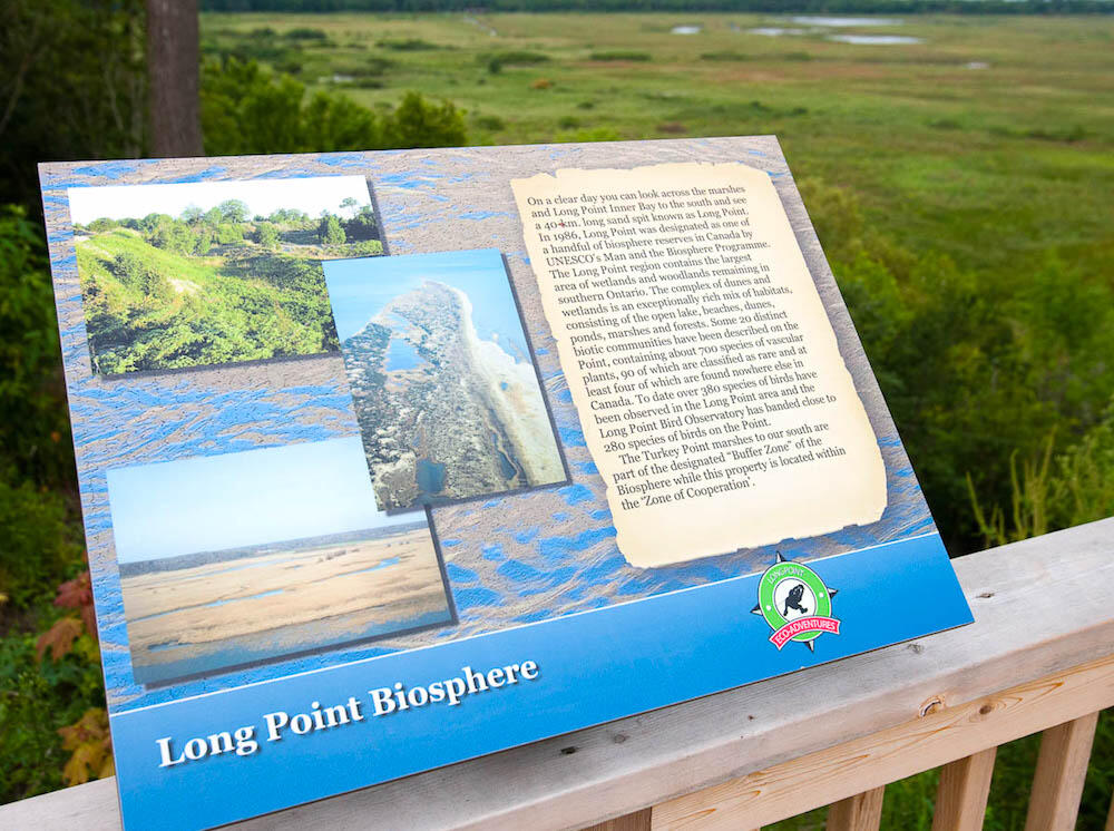 Photo of a Long Point Biosphere sign