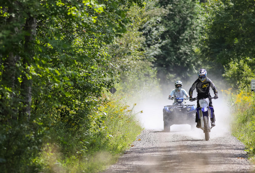 Bryan Caraway and Miesha Tate riding the trails in Northern Ontario