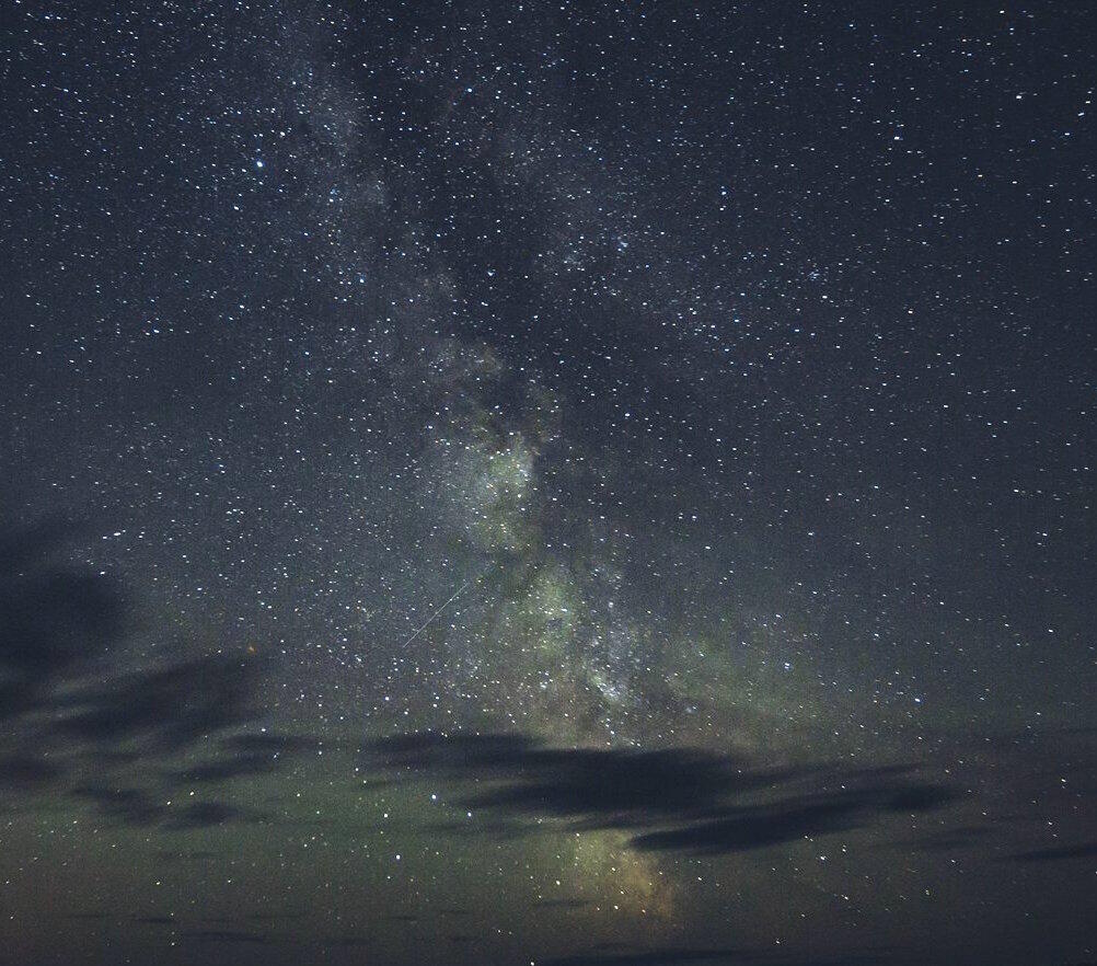Night sky filled with stars and milky way