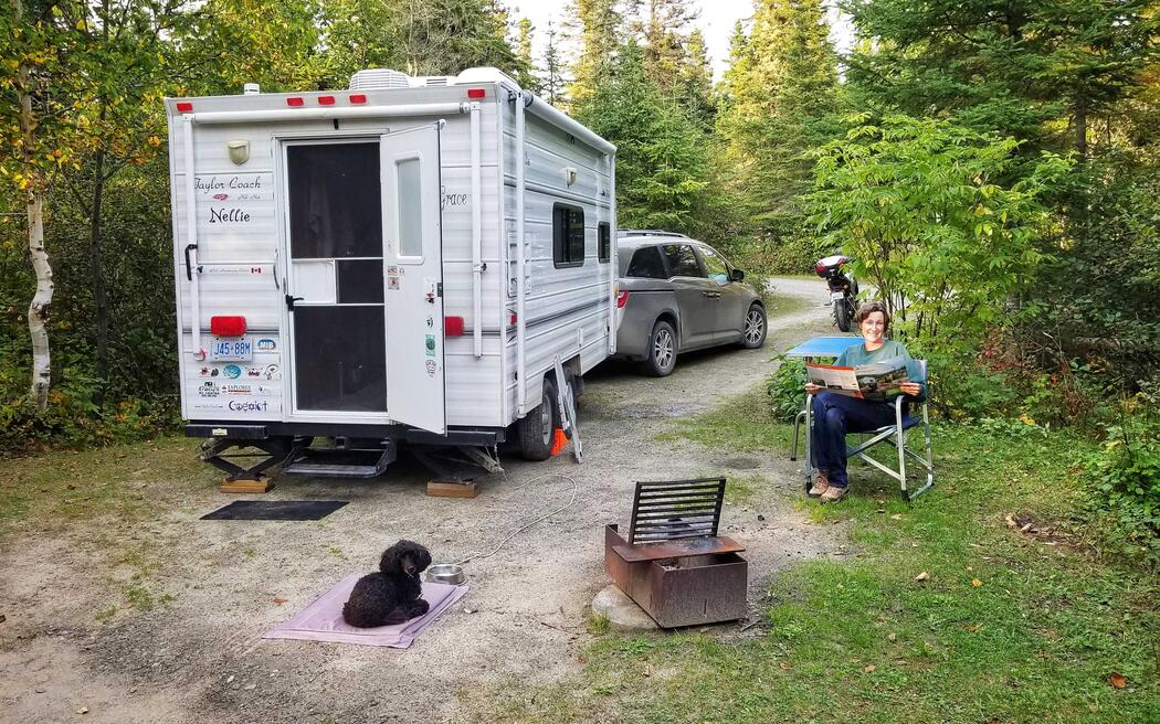 Home away from home at Pukaskwa National Park's Hattie Cove Campground