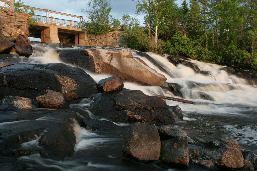 Waterfall in Sioux Narrows-Nestor Falls