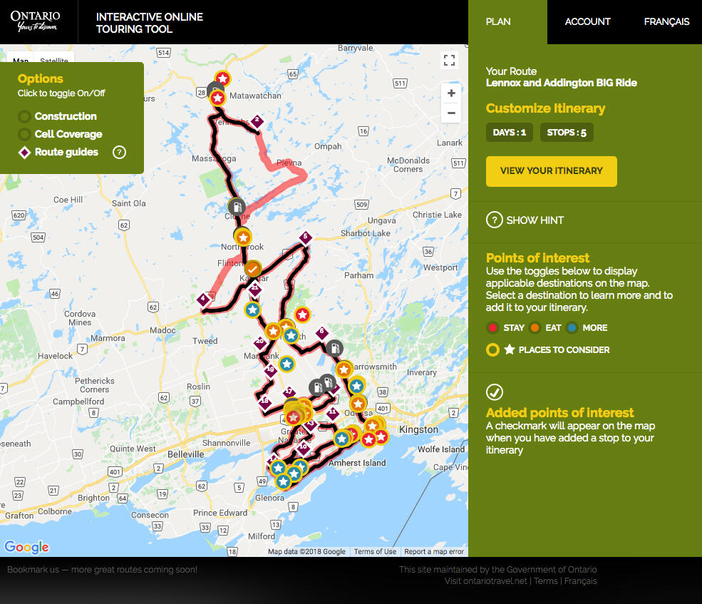 Ontario Motorcycle Maps and Trip Planners | Northern Ontario ...