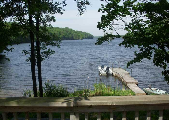 lorimer lake resort deck view