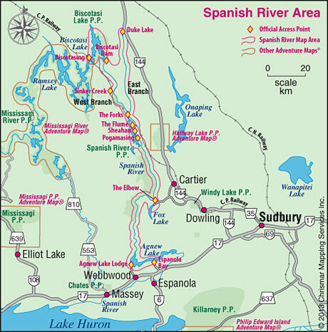 Map of Spanish River Area