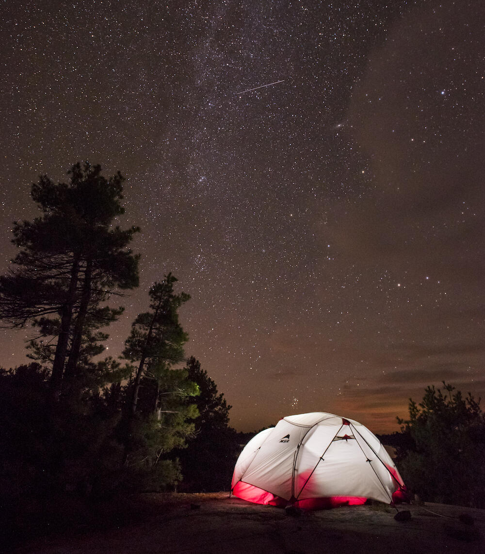 Camp under a blanket of stars.