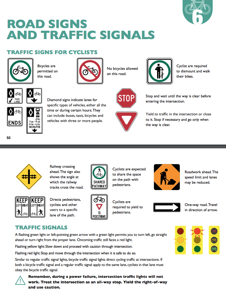 Graphics of road signs and traffic signals.