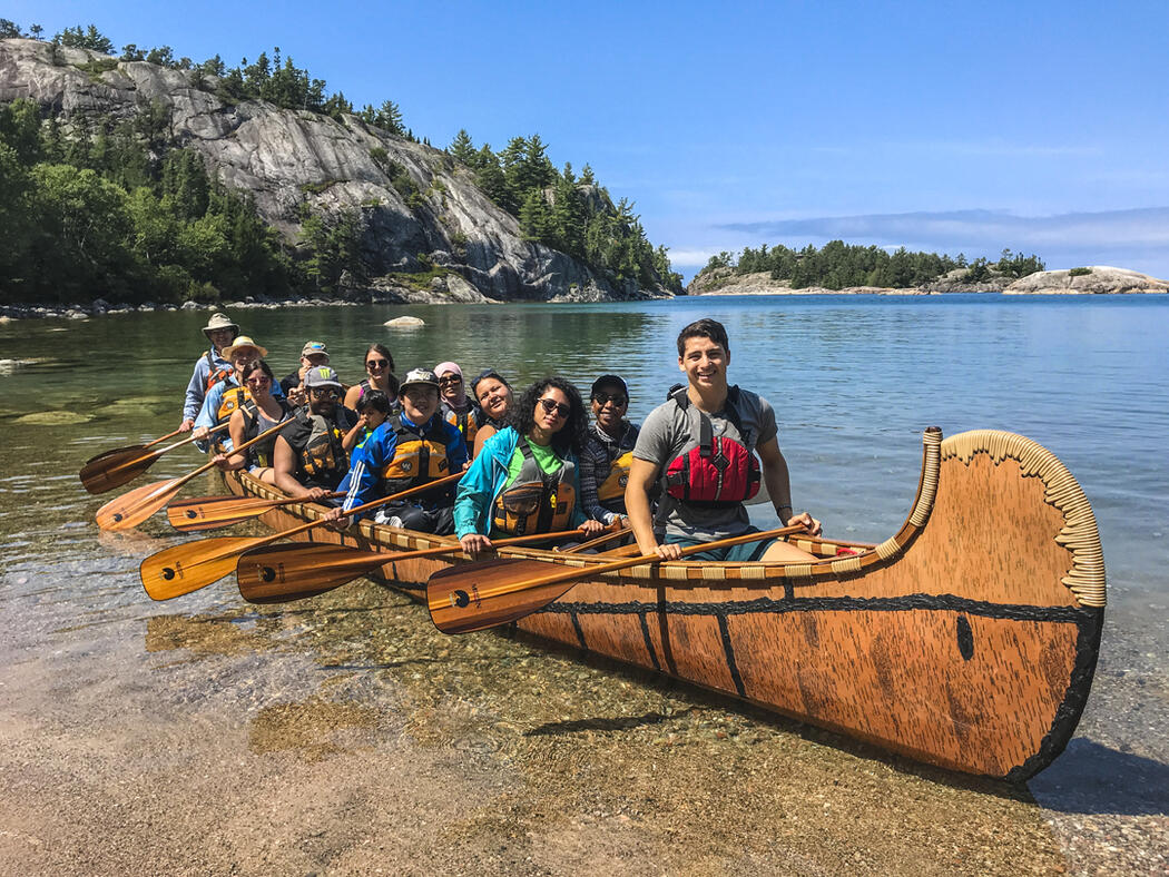 Guided paddling tour along the St. Marys River
