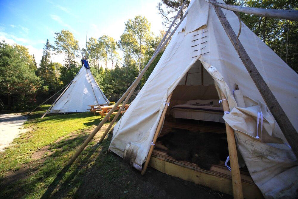 Traditional teepees