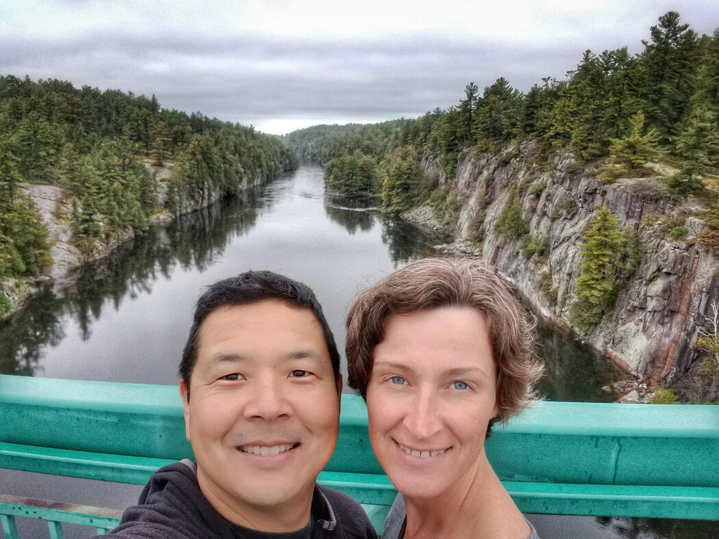 Selfie at the French River, Ontario
