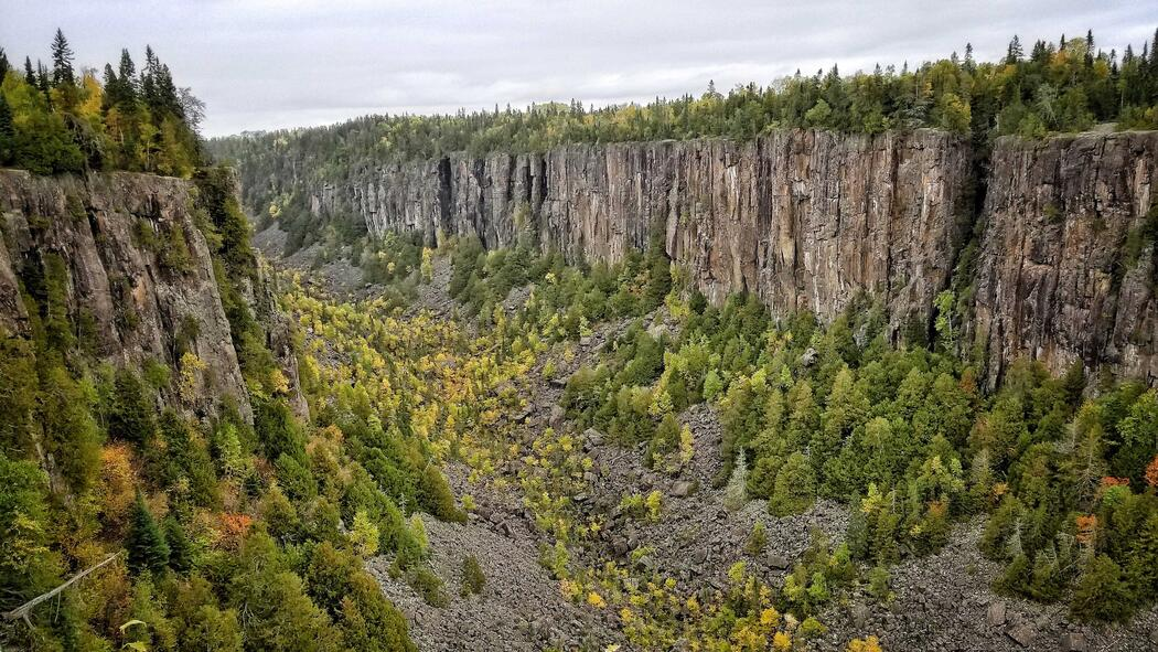 The incredible Ouimet Canyon has to be seen in real life.