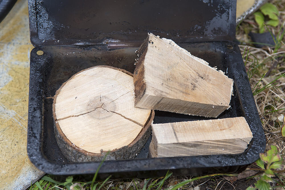Chunks of Hardwood