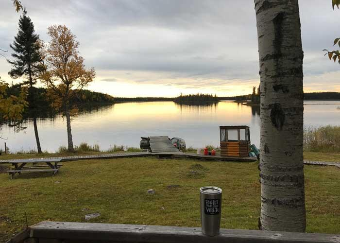 waterfront view from cabin