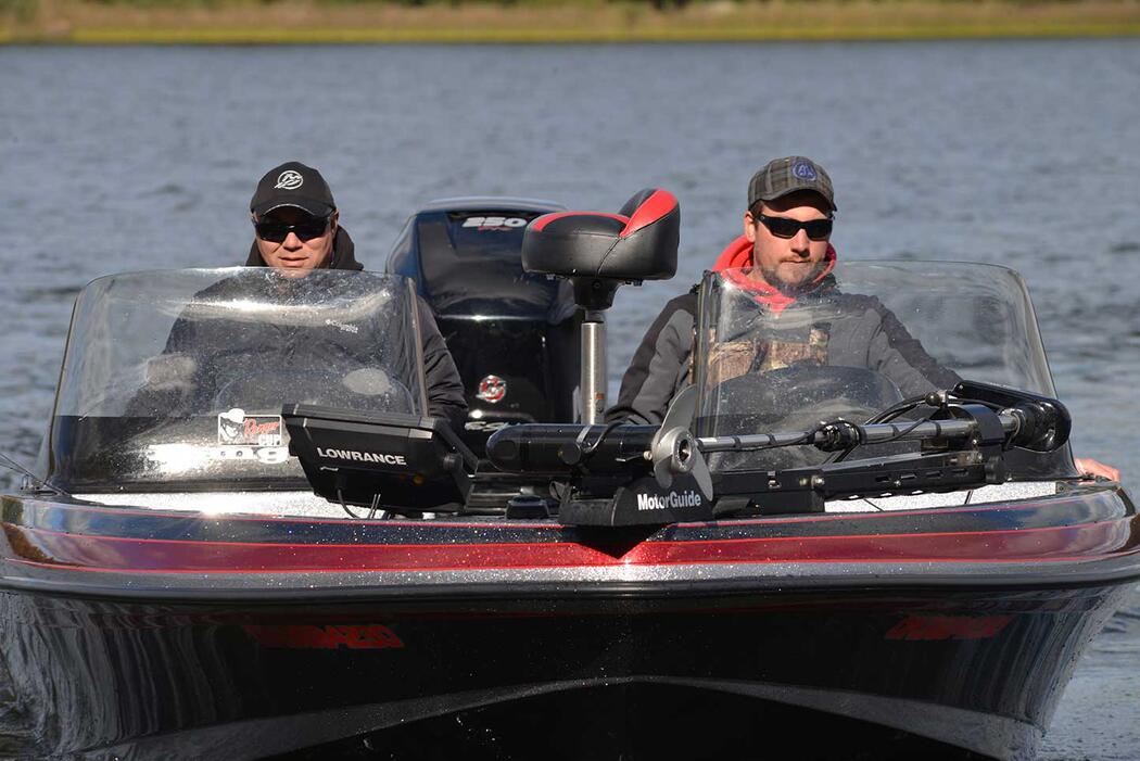 anglers in a boat