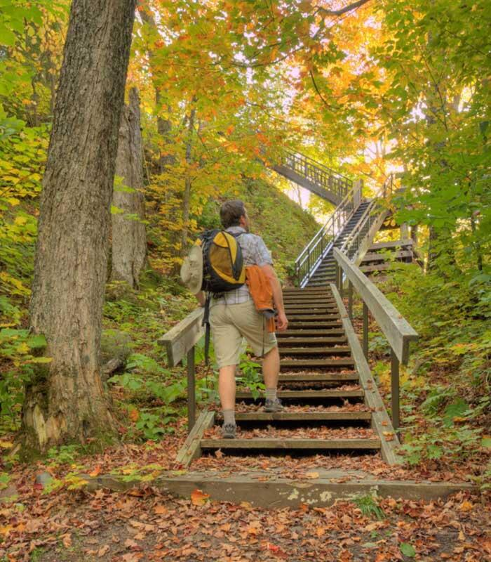 stairs to the edmund fitzgerald lookout