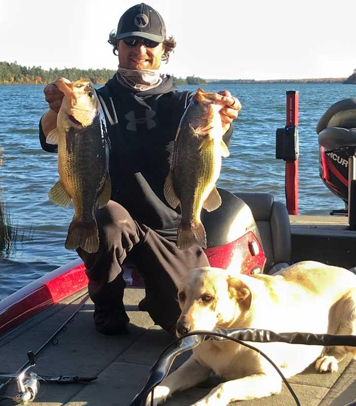 adam vallee angling algoma with 2 bass
