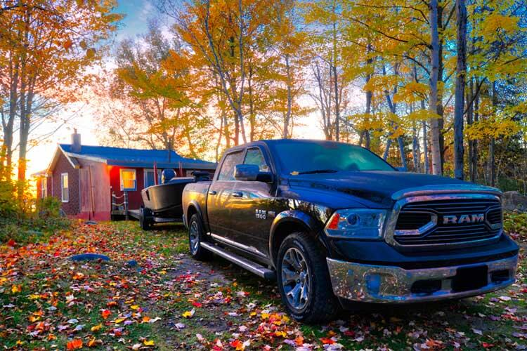 bruce bay cottages and dodge ram truck
